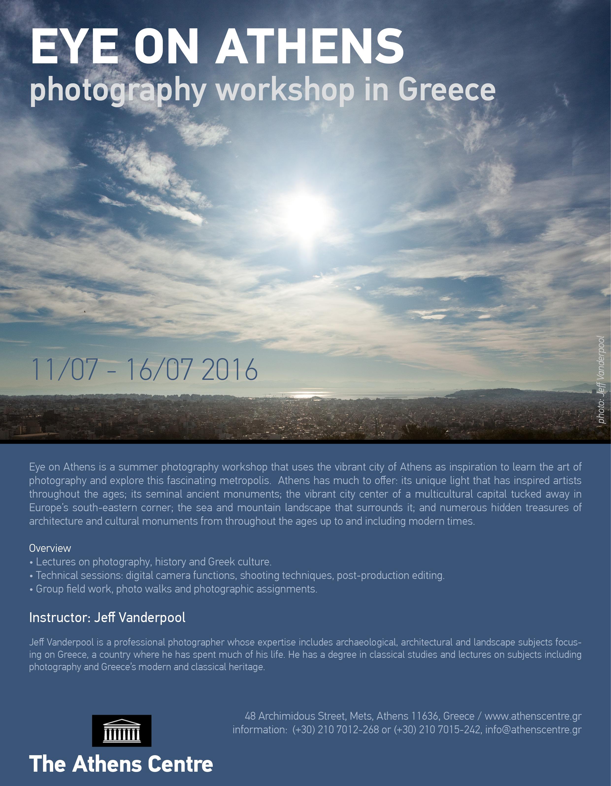 Photography workshop flyer 2016
